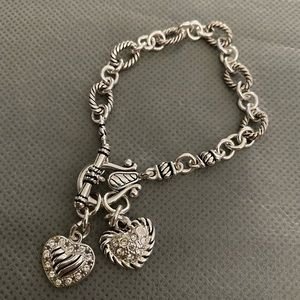Premier Designs Two Heart Toggle Bracelet